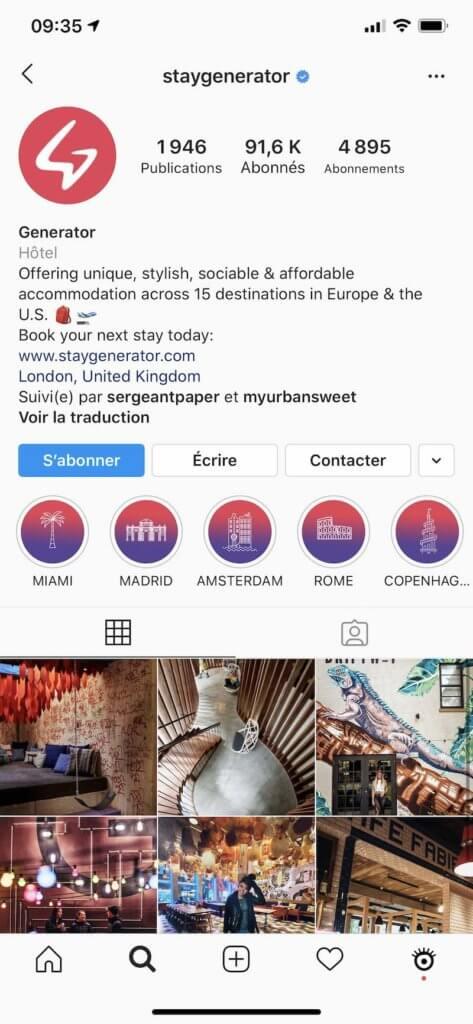 generator hotel instagram