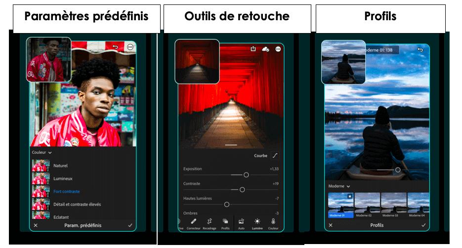 capture ecran light room mobile
